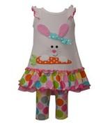 Girls size 12M Bonnie Jean Easter Bunny Appplique Dress with Large Dot L... - $659,32 MXN