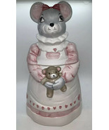 1990 House of LLoyd Mouse with Teddy Bear and Hearts Cookie Jar - $26.24