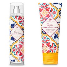 Bath & Body Works Capri Coastal Citrus Body Cream Fine Fragrance Mist Set - $27.72