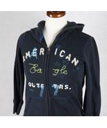 American Eagle Girls Hooded Jacket Size Small Medium - $12.61