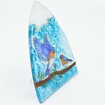 Handmade Fused Art Glass Bluebirds Blue Birds Nightlight Night Light Ecuador image 5