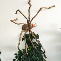 Giant Hairy Spider Scary Halloween Decoration LED Glowing Red Eyes Party... - €41,61 EUR