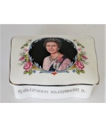 Collectible Crown Staffordshire China Box Silver Jubilee QE2 1977 Memor... - $45.00