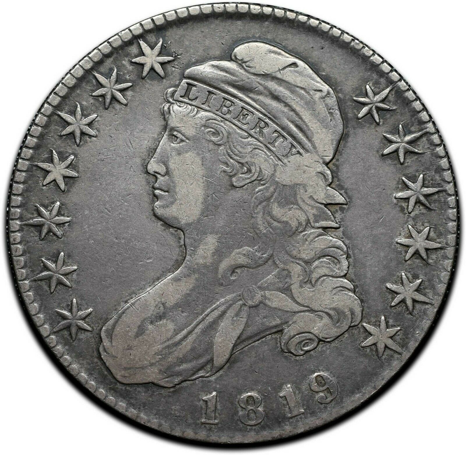 1819 Capped Bust Silver Half Dollar 50¢ Coin Lot# A 386