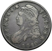 1819 Capped Bust Silver Half Dollar 50¢ Coin Lot# A 386 image 1