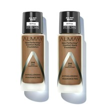 2~Almay Skin Perfecting Comfort Matte Foundation #250 Cool Cappuccino New Disc - $15.98