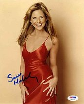 Sarah Michelle Gellar Cute Signed 8x10 Photo Certified Authentic PSA/DNA COA - $296.99