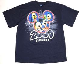 Disney Florida 2009 Shirt Adult Large Navy Blue Mickey Mouse Short Sleev... - $14.88
