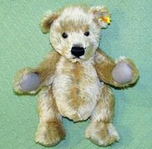 """14"""" STEIFF TEDDY BEAR RETIRED Classic Jointed Golden Tan Mohair Plush 03... - $168.30"""