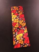 Vintage Tall Telephone Address Book Yellow Orange Red Black Floral Fabri... - $9.49