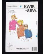 Kwik Sew Serge Pattern Boys & Girls Shirts Tops #2092 Sizes  4 5 6 7 - $6.95