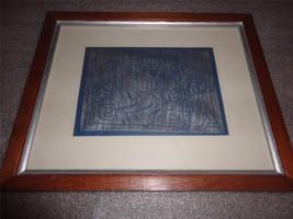 Framed Religious Print Plate Adoration of the Shepherds 1500 B.C. Cobham... - $19.80