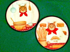 Lot of 2 Oneida Sakura Stephanie Stouffer Gourmet Cats Dessert Decorative - $10.77