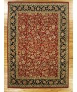 9' x 13' English Garden New Indian 9/9 Quality Red Jaipur Wool Handmade Rug - $4,673.62