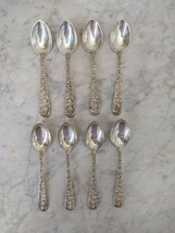 Repousse Sterling Silver by Kirk & Son - Set of 8 Demitasse Spoons Formal Dining - $200.00