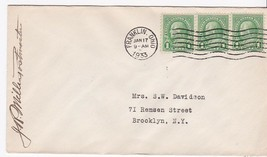 FRANKLIN OHIO JANUARY 17 1933 ON 1C FRANKLIN STAMP SIGNED BY POSTMASTER - $1.98