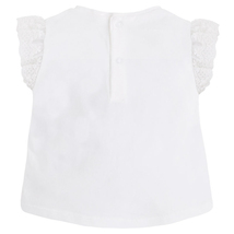 Mayoral Baby Girls 3M-24M Lace Hem Little-Girl-Friends Novelty Print Top/Tee image 2