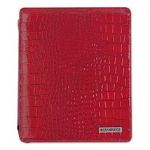 Mead Deluxe Ipad Case, Simulated Leather, 9-3/4 X 4-3/10 X 11-1/8, Red M... - $9.59