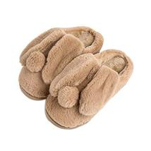 Women Plush Slippers Winter Cartoon Indoor Slippers Household Slippers BROWN