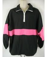 Australia Sports Club Perth Membership Jacket Neon Pink Black Windbreaker M - $21.77