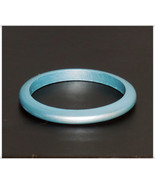 Blue Bangle Bracelet, Metallic Blue Painted Bangle, Small Bangle, Wooden... - $9.99