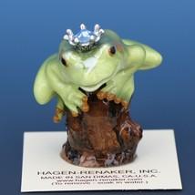Birthstone Tree Frog Prince March Aquamarine Miniatures by Hagen-Renaker image 1