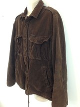 J Crew Vintage Cord Mens XL Brown Corduroy Lined Insulated Zip Frt Field Jacket - $38.61