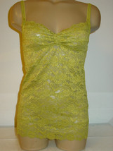 Urban Outfitters Pins and Needles pea green all lacy cami tank top layer... - $13.06