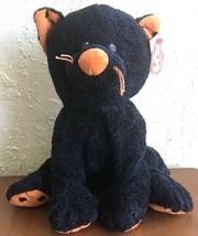 2008 Ty Pluffies Trickery Cat Black Orange Halloween Kitty New W/ Tag Po... - $16.03