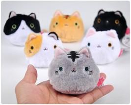 Kawaii Cats Key Chain 6 Pieces Lot Stuffed Adorable Toys Plush Cotton Ja... - $28.04