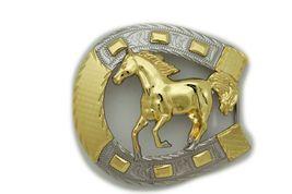 Hombre Western Cowboys Cinturón Hebilla Metal Plateado Caballo Rodeo Detalle image 4
