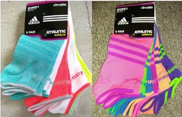 New Adidas SUPERLITE Running Socks 6 Pair Sz 5-10 - $20.00