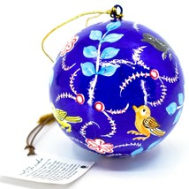 Asha Handicrafts Hand Painted Papier-Mâché Birds Holiday Christmas Ornament  image 2