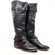 Ann Taylor LOFT Womens Black Leather Side Zip Knee High Fashion Boots Si... - $29.99
