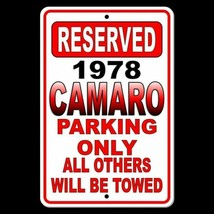 1978 Camaro Parking Only All Others Will Be Towed Metal Sign chevrolet SC018 - $9.40