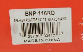 Hosa Technology BNP116RD Speaker Adaptor Quarter Inch TS To Dual Red Banana image 4