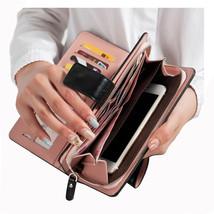Men's Wallets Women's Zipper Leather clutch - $27.99