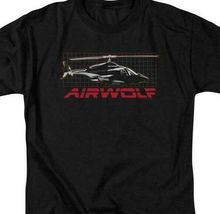 Airwolf helicopter t-shirt retro 80's action TV series adult graphic tee NBC501 image 3