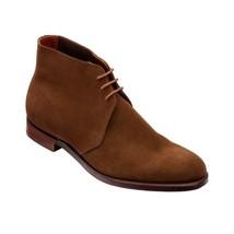 Handmade Men's Brown Suede Chukka Boots image 5