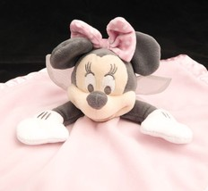 Minnie Mouse Fairy Lovey Disney Baby Pink Wings Polka Dot Security Blanket Plush - $21.67