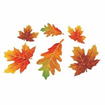 Parchment Fall Leaves 12 Pc Small Autumn Leaf Cutouts Decorations - $5.69