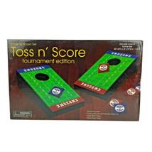 Cornhole MINI Game Board Set Toss n Score Football Endzone 8 Bean Bags R... - $32.99