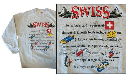 Switzerland National Definition Sweatshirt (M)