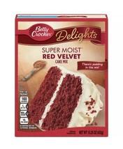 Betty Crocker Cake Mix Super Moist Delights Red Velvet w/ Pudding in the... - $6.99