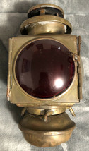 E & J Ford Model T Auto - Dec. 9, 1908 Kerosene Lantern - Blue, Red & Clear Lens - $98.99