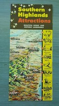Vintage Brochure Southern Highlands Attractions Scenic and Historic Land... - $15.95
