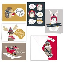 Woodland Animals Holiday Card Pack - Set of 36 cards - 6 of each design,... - £30.88 GBP