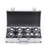 Game Petanque Briefcase Of Metal 8 Petancas IN Polished Steel Gift Outdoor - $242.06