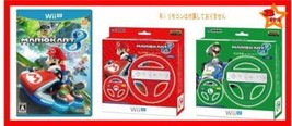 Nintendo - Mario Kart 8 Game + Mario & Luigi Handles For Wii U New Japan... - $499.79