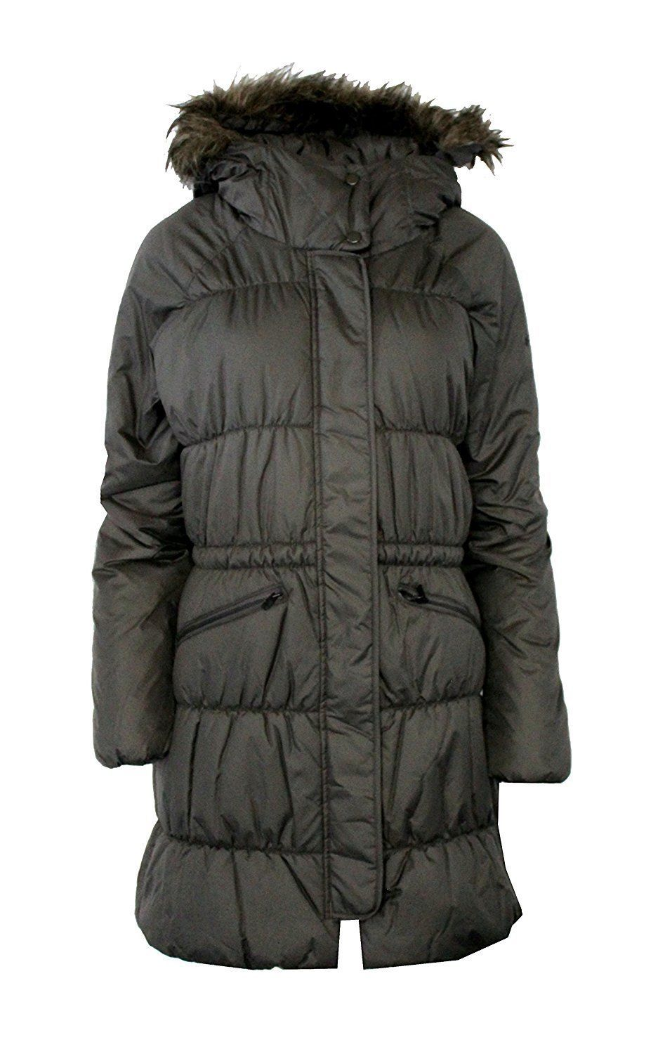 NWT Columbia XL  SPARKS LAKE LONG Insulated Women's Jacket Fur Hood GREY $220 - $172.96